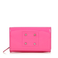 Versace Jeans - Bright pink embossed logo flap over purse