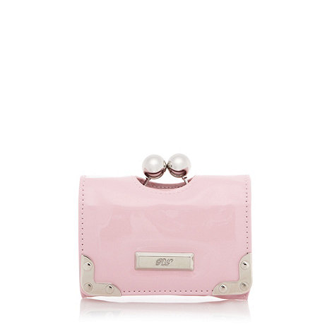 Red Herring - Pale pink clip frame purse