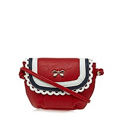 Floozie by Frost French - Red scalloped mini cross body bag