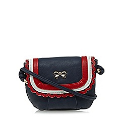 Floozie by Frost French - Navy scalloped mini cross body bag