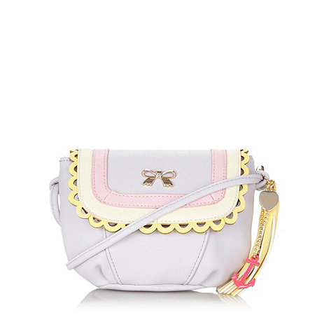 Floozie by Frost French - Lilac scalloped bow mini cross body bag