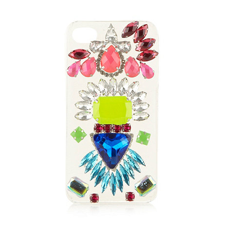 Skinnydip - Clear embellished iPhone 4/4S phone case