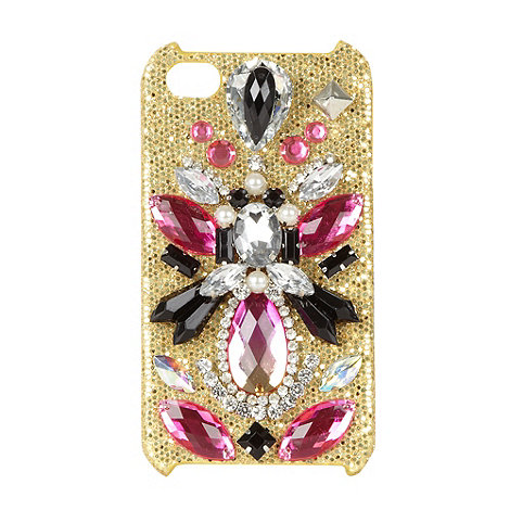 Skinnydip - Gold glitter embellished iPhone 4/4S phone case