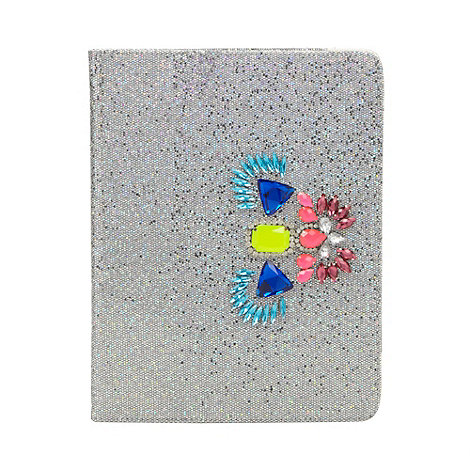 Skinnydip - Silver glitter iPad 2 and 3 case
