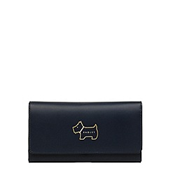 Radley - Large navy leather 'Heritage Dog' outline matinee purse