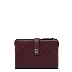 Radley - Medium wine leather 'Larkswood' folded purse