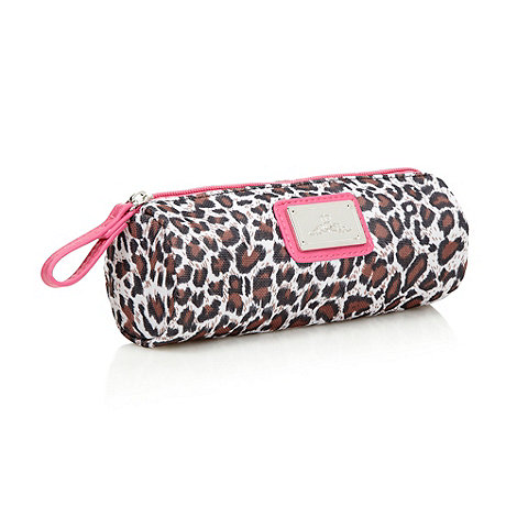 Red Herring - Brown leopard print pencil case