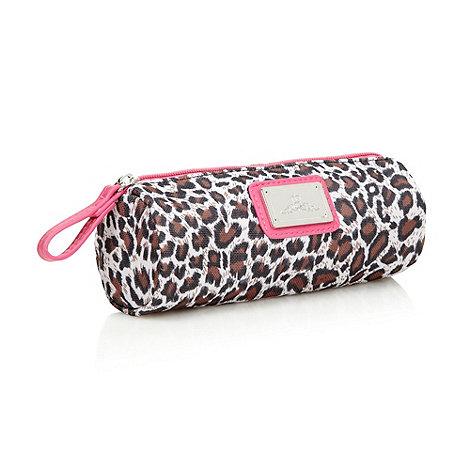 Red Herring - Brown leopard print pencil case