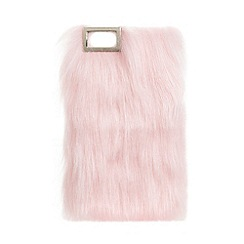 Skinnydip - Pink faux fur iPhone 5/5s case