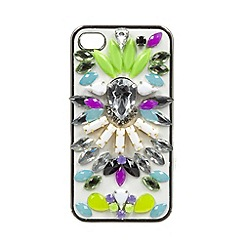 Skinnydip - White jewelled iPhone 4/4s case