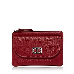 The Collection - Red leather flap over pocket coin purse