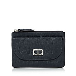 The Collection - Navy leather flap over pocket coin purse