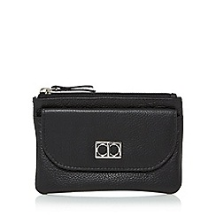 The Collection - Black leather flap over pocket coin purse