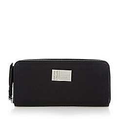 Betty Jackson.Black - Designer black grained zip around purse