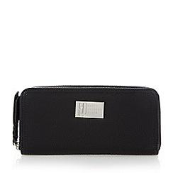 Betty Jackson.Black - Designer black grained zip around purse