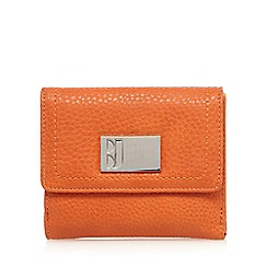 Betty Jackson.Black - Designer orange grained medium purse