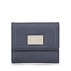 Betty Jackson.Black - Designer blue grained medium purse