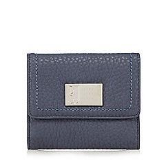 Betty Jackson.Black - Designer blue grained medium purse