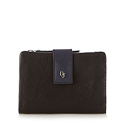 Betty Jackson.Black - Designer black leather soft flap over purse