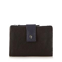 Betty Jackson.Black - Designer black leather soft flap over purse