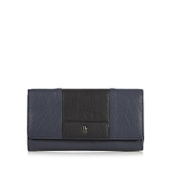 Betty Jackson.Black - Designer navy leather colour block purse