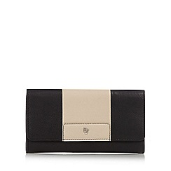 Betty Jackson.Black - Designer black leather colour block purse