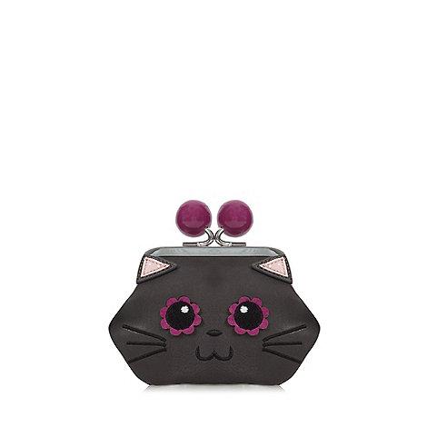 Mantaray - Black cat face coin purse