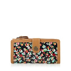 Mantaray - Tan floral large purse