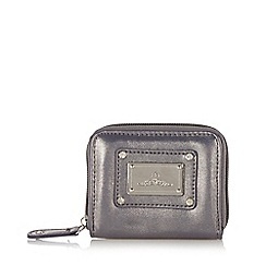 Red Herring - Silver metallic zip around coin purse
