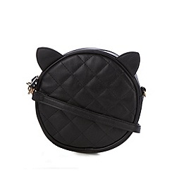 H! by Henry Holland - Designer black quilted cat cross body bag
