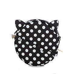 H! by Henry Holland - Designer black spotted cat cross body bag