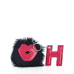H! by Henry Holland - Designer black faux fur lips coin purse