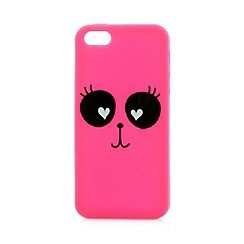 H! by Henry Holland - Designer pink animal face iPhone 5/5S cover