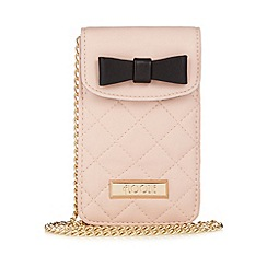 Floozie by Frost French - Light pink quilted cross body phone pouch