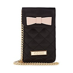 Floozie by Frost French - Black quilted cross body phone pouch