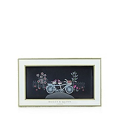 Bailey & Quinn - Black 'Bike and Bird Matinee' large purse