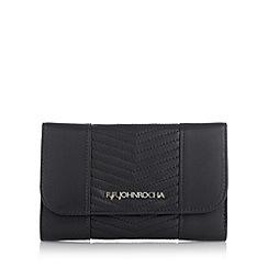 RJR.John Rocha - Designer navy medium chevron quilted purse