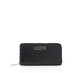 J by Jasper Conran - Designer black mock croc zip around purse