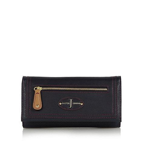 J by Jasper Conran - Designer navy grained zip flap over purse