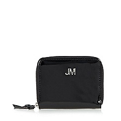 Star by Julien MacDonald - Designer black patent zip around purse