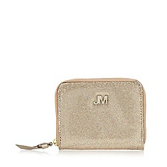 Star by Julien MacDonald - Designer gold glitter zip around purse