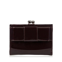 Principles by Ben de Lisi - Designer dark red bow medium frame purse