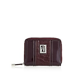 Principles by Ben de Lisi - Designer wine patent croc panel zip around purse