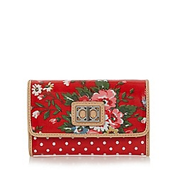 The Collection - Red floral and polka dot print purse