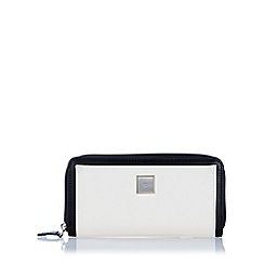The Collection - Black large monochrome zip around purse
