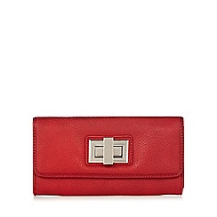 The Collection - Red medium twist lock flap over purse