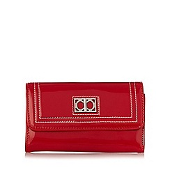 The Collection - Red patent stitched medium purse