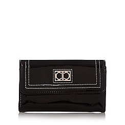 The Collection - Black patent stitched medium purse