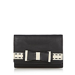 The Collection - Black stitch bow medium purse