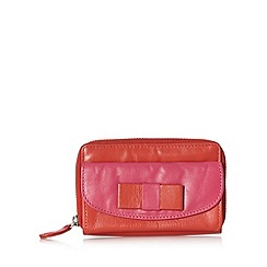 The Collection - Red colour block bow mini purse